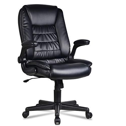LENTIA Bürostuhl schreibtischstuhl aus Verstellbarer Drehstuhl Chefsessel Ergonomischer Computerstuhl Office Stuhl bis zu 300 kg belastbar schwarz
