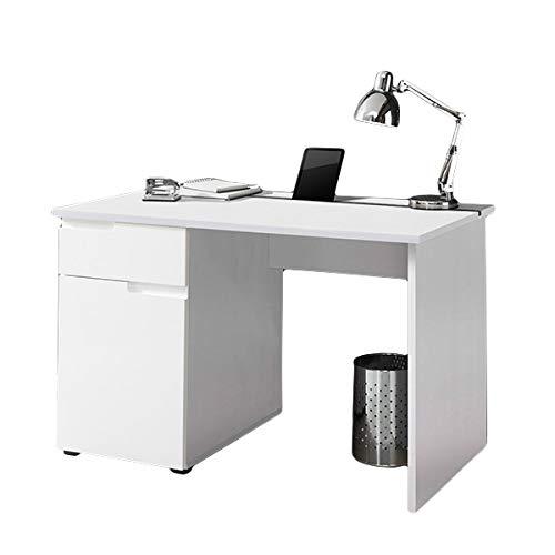 Schreibtisch weiß hochglanz B 120 cm PC Computertisch Kinderschreibtisch Jugendschreibtisch Bürotisch Jugendzimmer Kinderzimmer
