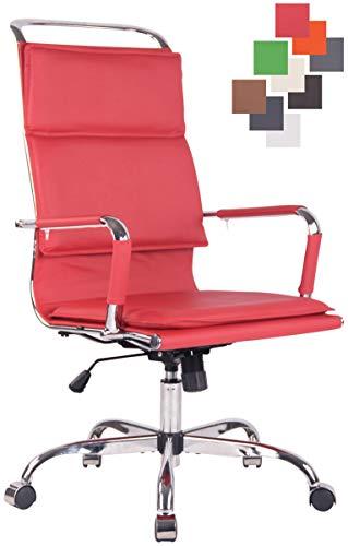 CLP Bürostuhl Bedford Mit Kunstlederbezug Und Leichtlaufrollen | Höhenverstellbarer Ergonomischer Bürosessel I Chefsessel Mit Lehne