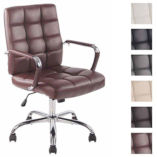 CLP Bürostuhl Deli PRO mit Kunstlederbezug I Schreibtischstuhl mit Metalldrehkreuz I Chefsessel mit Leichtlaufrollen I erhältlich