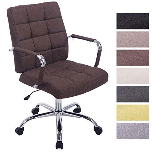 CLP Bürostuhl Deli PRO mit Stoffbezug I Schreibtischstuhl mit Metalldrehkreuz I Chefsessel mit Laufrollen I erhältlich