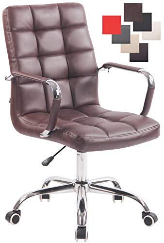 CLP Bürostuhl Deli mit Kunstlederbezug und hochwertiger Polsterung I Drehstuhl mit höhenverstellbarer Sitzhöhe