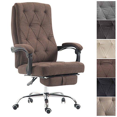 CLP Bürostuhl Gear mit hochwertiger Polsterung und Stoffbezug I Höhenverstellbarer Chefsessel mit ausziehbarer Fußablage I Drehstuhl mit Laufrollen I erhältlich