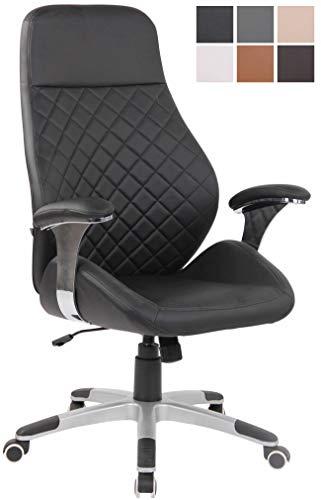 CLP Bürostuhl Layton Mit Leichtlaufrollen I Chefsessel Mit Lehne I Höhenverstellbarer Ergonomischer Bürosessel