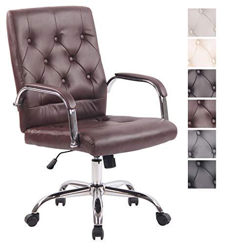 CLP Bürostuhl Leroy V2 mit Kunstlederbezug und hochwertiger Polsterung I Ergonomischer Drehstuhl mit höhenverstellbarer Sitzhöhe