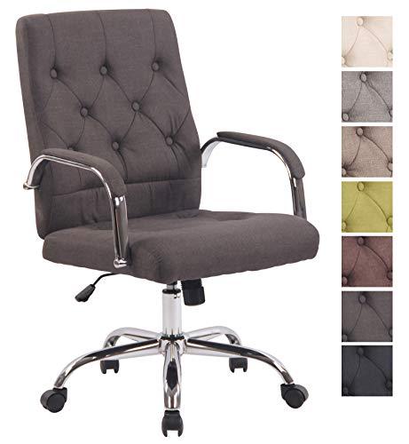 CLP Bürostuhl Leroy V2 mit Stoffbezug und hochwertiger Polsterung I Ergonomischer Drehstuhl mit höhenverstellbarer Sitzhöhe