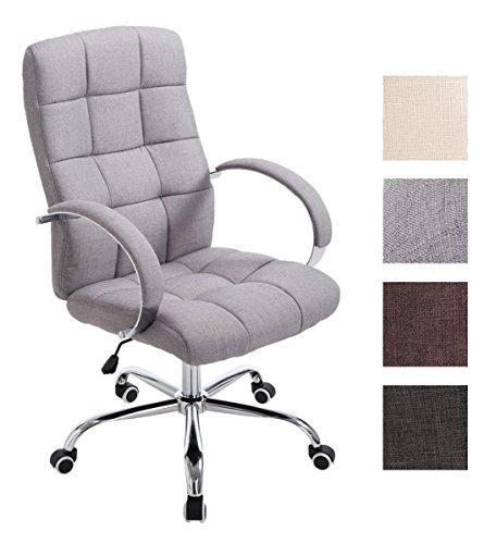 CLP Bürostuhl MIKOS mit Stoffbezug und hochwertiger Polsterung I Höhenverstellbarer Chefsessel mit Armlehne I erhältlich