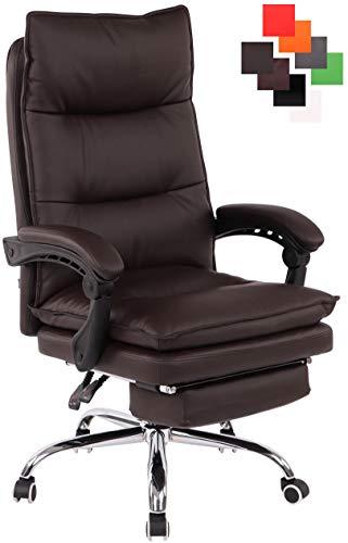 CLP Bürostuhl Power Mit Kunstlederbezug I Ergonomischer Bürosessel Mit Verstellbarer Sitzhöhe I Drehstuhl Mit Ausziehbarer Fußablage