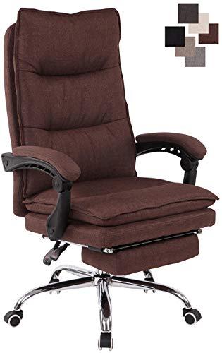 CLP Bürostuhl Power Mit Stoffbezug I Ergonomischer Bürosessel Mit Verstellbarer Sitzhöhe I Drehstuhl Mit Ausziehbarer Fußablage