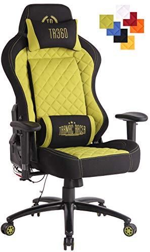 CLP Bürostuhl Rapid XM Mit Stoffbezug Und Massagefunktion I Schreibtischstuhl Mit Verstellbaren Armlehnen Und Beheizbarem Sitzbereich