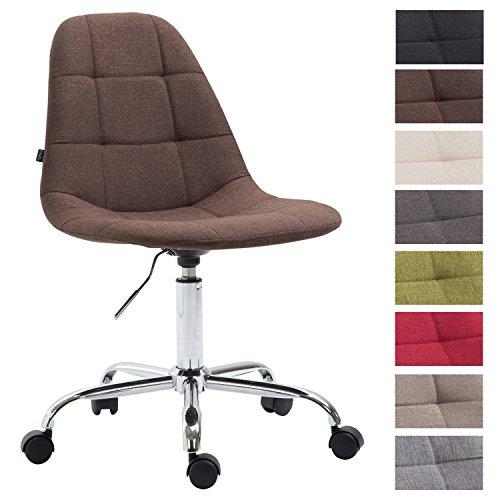 CLP Bürostuhl Reims mit Stoffbezug | Schreibtischstuhl mit gestepptem Sitz | Höhenverstellbarer Arbeitsstuhl mit Metallgestell erhältlich