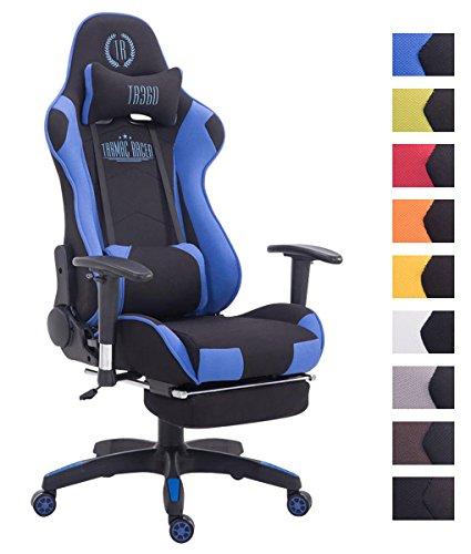 CLP Bürostuhl Turbo mit Stoffbezug, hochwertiger Polsterung und ausziehbarer Fußablage | Gamingstuhl mit Einer maximalen Belastbarkeit von 150 kg erhältlich