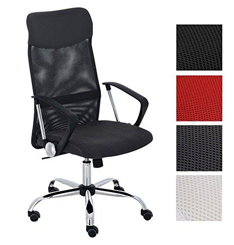CLP Bürostuhl Washington V2 höhenverstellbarer Drehstuhl mit Wippfunktion | Schreibtischstuhl mit Netzbezug I stabiles Metall Drehkreuz