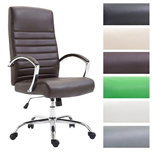 CLP Bürostuhl XL VALAIS mit Kunstlederbezug, Chefsessel, Drehstuhl mit Armlehnen, Bürodrehstuhl mit hochwertige Polsterung, max. Belastbarkeit 136 kg,