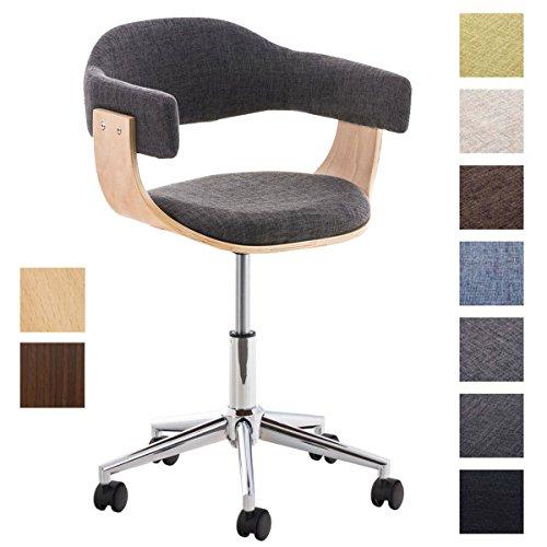 CLP Design-Bürostuhl BRÜGGE mit hochwertiger Polsterung und Stoffbezug | Höhenverstellbarer Schreibtischstuhl mit Einer gepolsterten Sitzschale