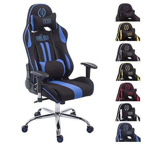 CLP Racing Bürostuhl Limit V2 mit Stoffbezug I Gamingstuhl mit Metallgestell I Schreibtischstuhl mit Laufrollen I erhältlich