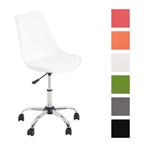 CLP Schreibtischstuhl PEGLEG mit Kunstlederbezug I Höhenverstellbarer Bürostuhl mit Laufrollen I Drehstuhl mit robustem Metallgestell