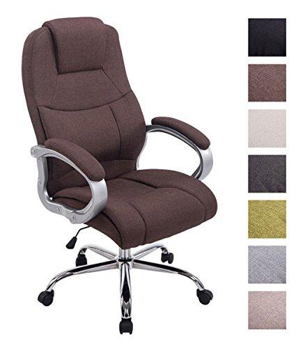 CLP XL Bürostuhl APOLL mit hochwertiger Polsterung und Stoffbezug I Höhenverstellbarer Drehstuhl mit Laufrollen I Schreibtischstuhl mit Einer maximalen Belastbarkeit bis 150 kg