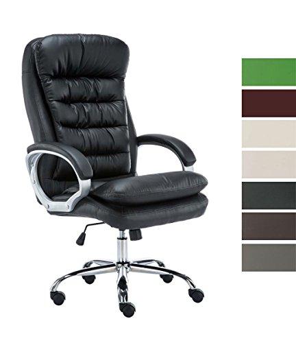 CLP XXL Bürostuhl Vancouver mit Kunstlederbezug I Drehstuhl mit max. Belastbarkeit bis zu 235 kg I Chefsessel mit Laufrollen I erhältlich