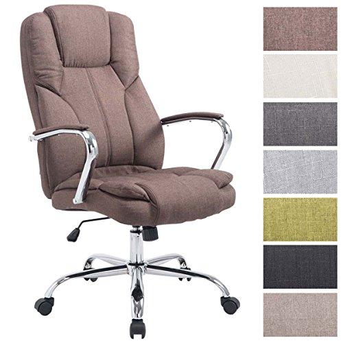 CLP XXL Bürostuhl XANTHOS mit Polsterung und Stoffbezug I Höhenverstellbarer Schreibtischstuhl I Chefsessel bis max. 210 kg belastbar I erhältlich