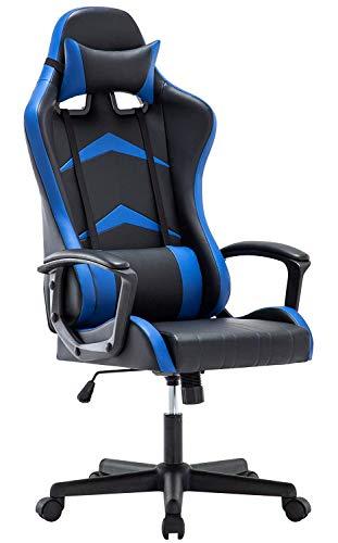 IntimaTe WM Heart Gaming Stuhl, Bürostuhl mit verstellbarem Kopfkissen und Lendenkissen, Ergonomischer Schreibtischstuhl, Racingstuhl Mir hoher Rückenlehne