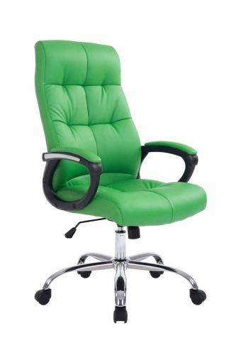 CLP XXL Bürostuhl Poseidon mit Kunstlederbezug | Höhenverstellbarer Drehstuhl mit Laufrollen | Chefsessel mit max.Tragkraft bis zu 160 kg, Farbe:grün