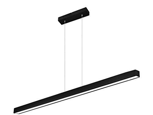 LED Hängeleuchte HausLeuchten LED120KB-3000K-SCHWARZ aus Holz 120cm 1998lm Warmweißes Licht (3000 K) Deckenlampe Deckenleuchte Pendelleuchte Leuchte Lampe (SCHWARZ - Warmweißes Licht (3000 K))