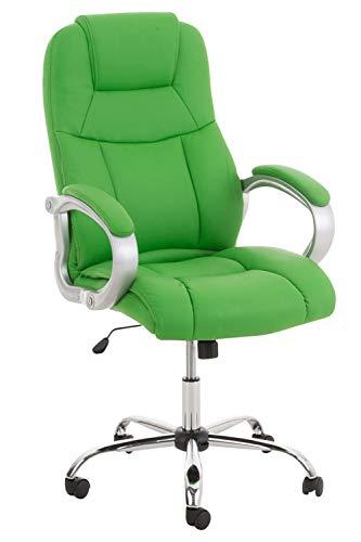 CLP XL Bürostuhl APOLL mit Kunstlederbezug und hochwertiger Polsterung l Drehbarer und höhenverstellbarer Chefsessel bis 150 kg belastbar Grün