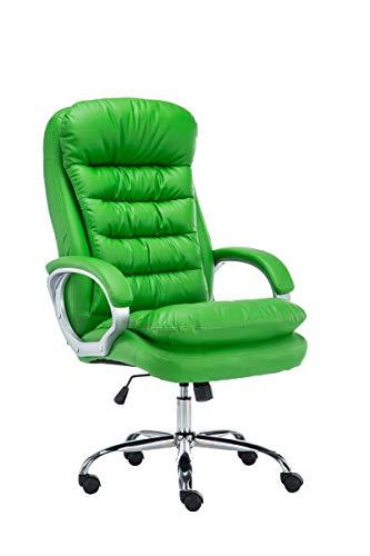 CLP XXL Bürostuhl Vancouver Mit Kunstlederbezug I Drehstuhl Mit max. 235 KG Belastbarkeit I Chefsessel Mit Laufrollen, Farbe:grün
