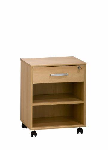 MAJA-Möbel 4025 5531 Rollcontainer, Buche-Nachbildung, Abmessungen BxHxT: 45,6 x 59,1 x 36 cm