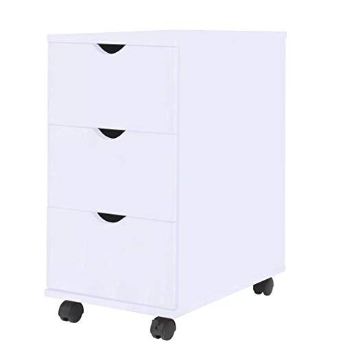 vidaXL Schubladenelement Rollen 33x45x60cm Weiß Rollcontainer Büroschrank