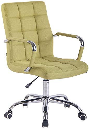 CLP Bürostuhl Deli mit Stoffbezug und hochwertiger Polsterung I Drehstuhl mit höhenverstellbarer Sitzhöhe, Farbe:grün