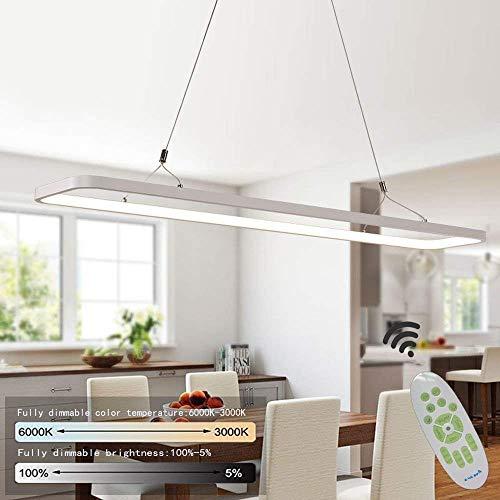 EYLM Pendelleuchte LED Hängeleuchte 45W Dimmbar Pendellampe 3000Lumen Pendeleuchte mit Fernbedienung Moderne Hängelampe für Esszimmer, Schlafzimmer, Höhenverstellbar