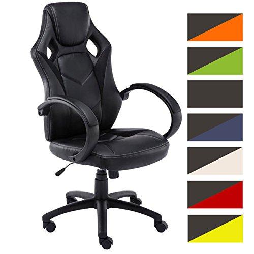 CLP Sportsitz-Bürostuhl Magnus, Schreibtischstuhl höhenverstellbar 49-59 cm, Farbe:schwarz