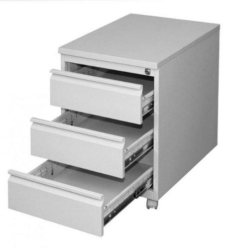 Profi Stahl Büro Rollcontainer Bürocontainer Lichtgrau 505300 Maße: 620 x 460 x 600 mm kompl. montiert und verschweißt