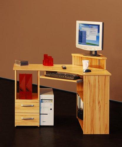 Möbeldesign Team 2000 Eckschreibtisch PC Tisch Computertisch kernbuche, 4505-2